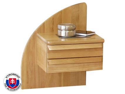Noční stolek z masivu - Styler - Petra - ľavý